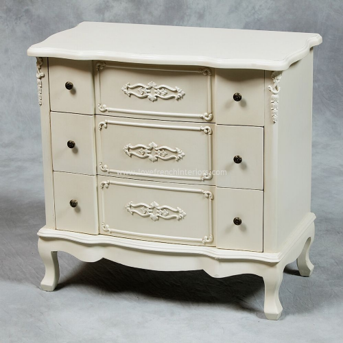 Large Three Drawer Chest in Cream